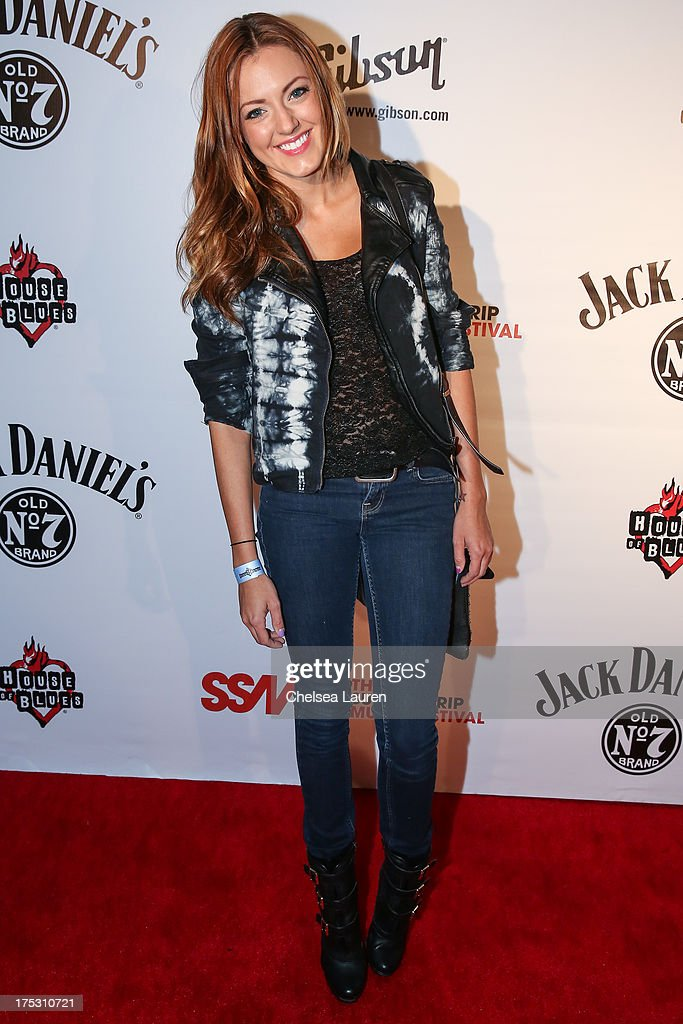 Model Brittney Bouchard arrives at the 6th annual Sunset Strip Music Festival launch party honoring Joan Jett at House of Blues Sunset Strip on August 1, 2013 in West Hollywood, California.