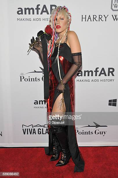 Model Brooke Candy attends the 7th Annual amfAR Inspiration Gala at Skylight at Moynihan Station on June 9 2016 in New York City