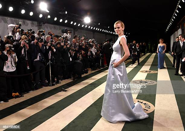 Model Brooklyn Decker attends the 2015 Vanity Fair Oscar Party hosted by Graydon Carter at the Wallis Annenberg Center for the Performing Arts on...