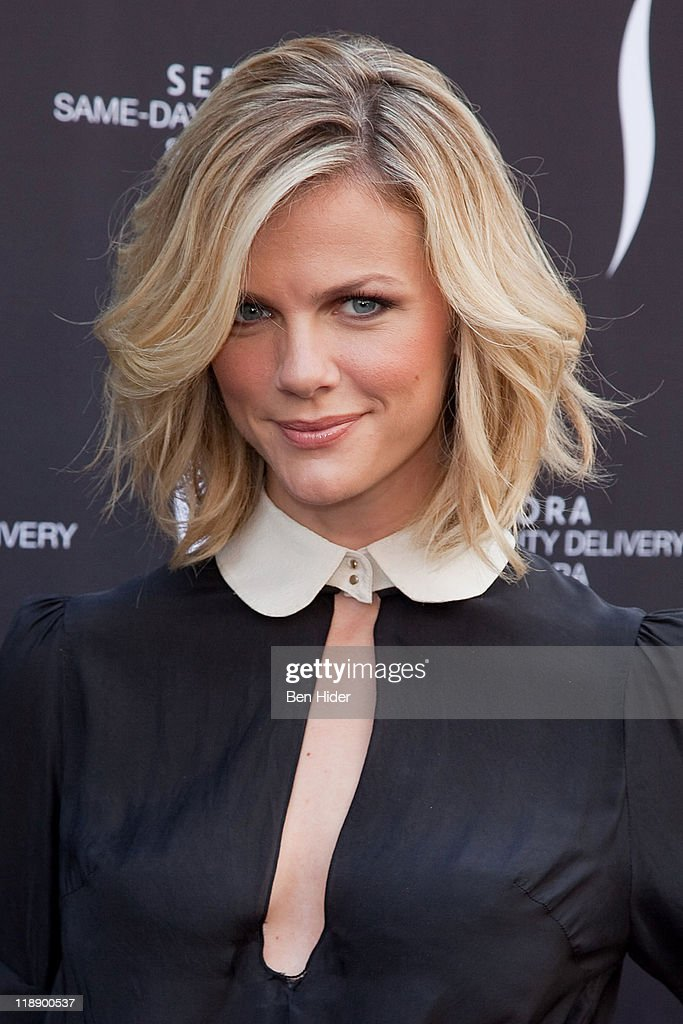 Model Brooklyn Decker attends the launch of Sephora's Same Day Beauty Delivery at Sephora Flatiron on July 12 2011 in New York City