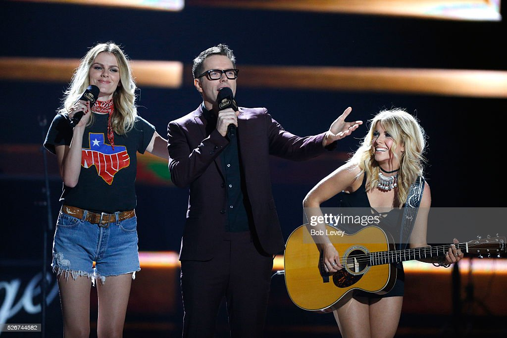 Model Brooklyn Decker, radio personality Bobby Bones and singer Lindsay Ell perform onstage during the 2016 iHeartCountry Festival at The Frank Erwin Center on April 30, 2016 in Austin, Texas.