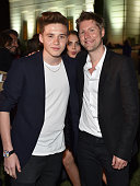 Model Brooklyn Joseph Beckham model Cara Delevingne and chief executive chief creative officer of Burberry Christopher Bailey attends the Burberry...