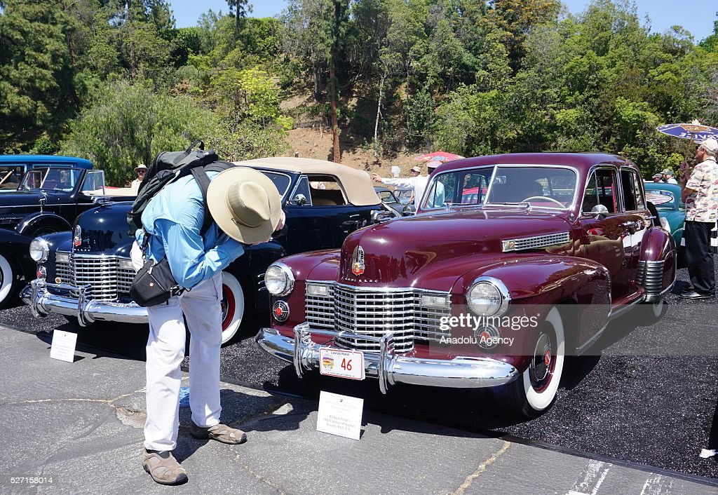 1941 model Cadillac 60 is on display during Concours d'Elegance at Greystone Mansion in Beverly Hills, Los Angeles, USA, on May 2, 2016. 140 classic automobiles from 18 different categories are displayed during the Concours d'Elegance classic automobile show.