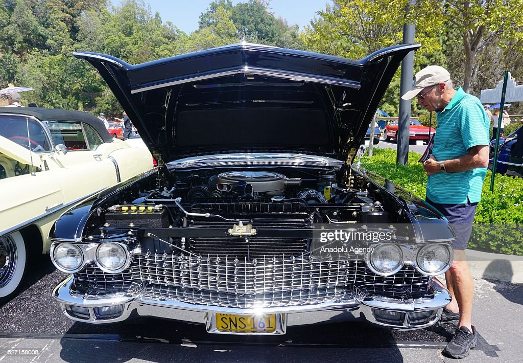 1960 model Cadillac Eldorado Biarritz is on display during Concours d'Elegance at Greystone Mansion in Beverly Hills, Los Angeles, USA, on May 2, 2016. 140 classic automobiles from 18 different categories are displayed during the Concours d'Elegance classic automobile show.