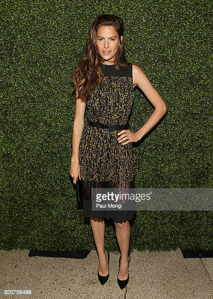 Model Cameron Russell arrives at the World Food Program USA's Annual McGovernDole Leadership Award Ceremony at Organization of American States on...
