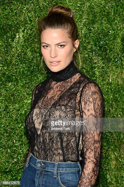 Model Cameron Russell attends the 12th annual CFDA/Vogue Fashion Fund Awards at Spring Studios on November 2 2015 in New York City
