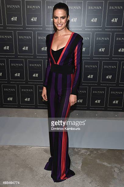 Model Cameron Russell attends the BALMAIN X HM Collection Launch at 23 Wall Street on October 20 2015 in New York City