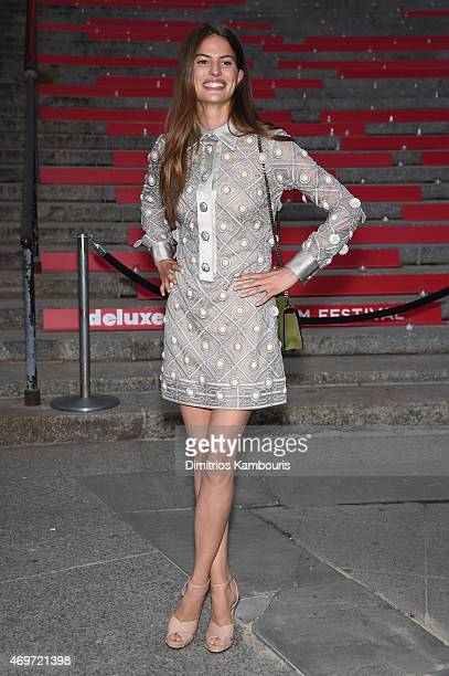 Model Cameron Russell attends the Vanity Fair Party during the 2015 Tribeca Film Festival at the New York State Supreme Court Building on April 14...