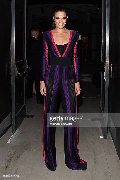 Model Cameron Russell seen outside of the BALMAIN X HM Collection launch event at 23 Wall Street on October 20 2015 in New York City