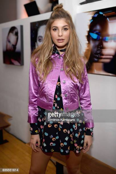 Model Cami Morrone attends Marc Jacobs Beauty Celebrates Kaia Gerber on February 15 2017 in New York City