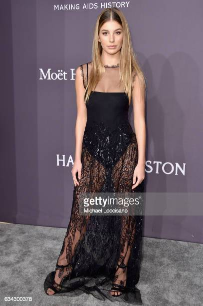 Model Cami Morrone attends the 19th Annual amfAR New York Gala at Cipriani Wall Street on February 8 2017 in New York City