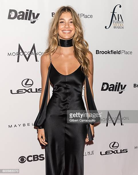 Model Cami Morrone attends The Daily Front Row's 4th Annual Fashion Media Awards at Park Hyatt New York on September 8 2016 in New York City