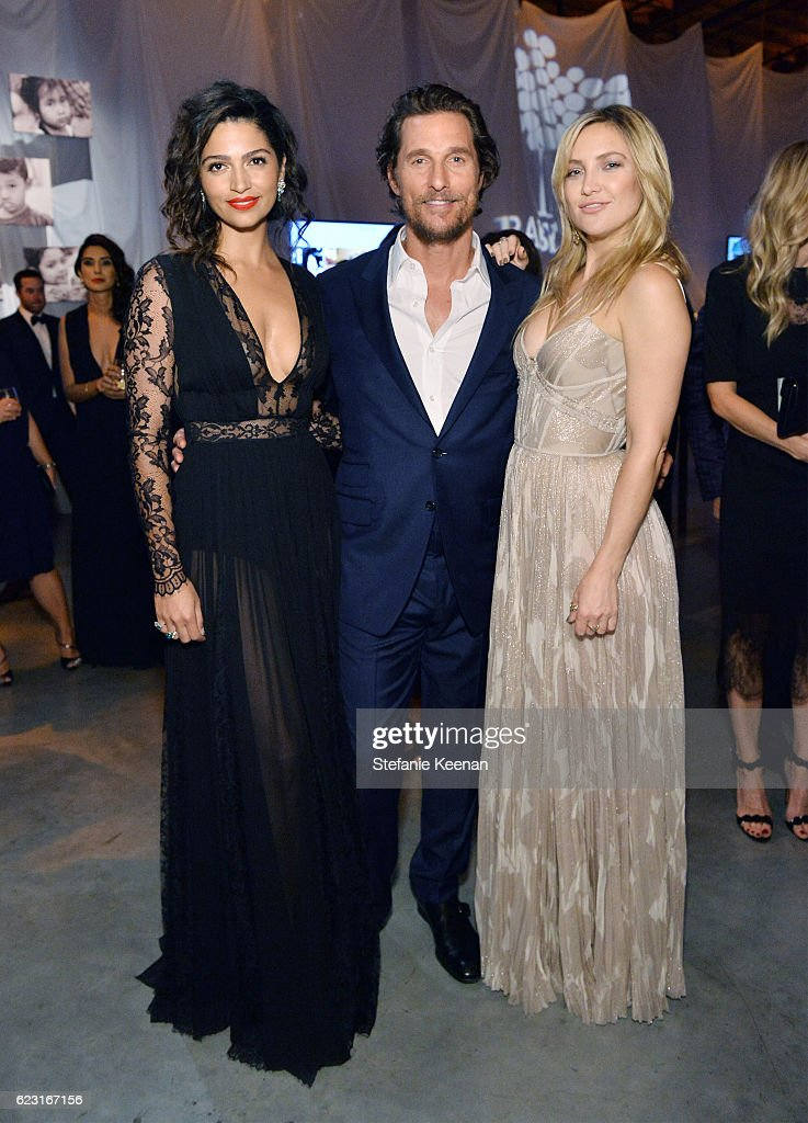 Model Camila Alves and actors Matthew McConaughey and Kate Hudson attend the Fifth Annual Baby2Baby Gala, Presented By John Paul Mitchell Systems at 3LABS on November 12, 2016 in Culver City, California.