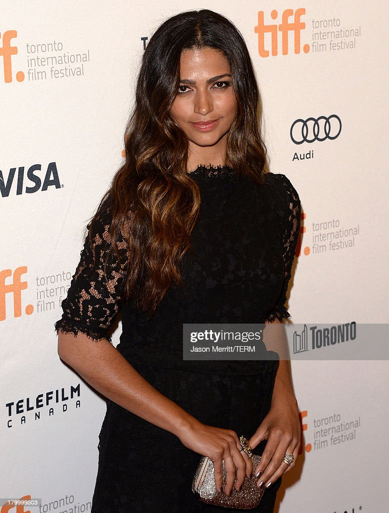 Model <a gi-track='captionPersonalityLinkClicked' href=/galleries/search?phrase=Camila+Alves&family=editorial&specificpeople=4501431 ng-click='$event.stopPropagation()'>Camila Alves</a> arrives at the 'Dallas Buyers Club' premiere during the 2013 Toronto International Film Festival at Princess of Wales Theatre on September 7, 2013 in Toronto, Canada.
