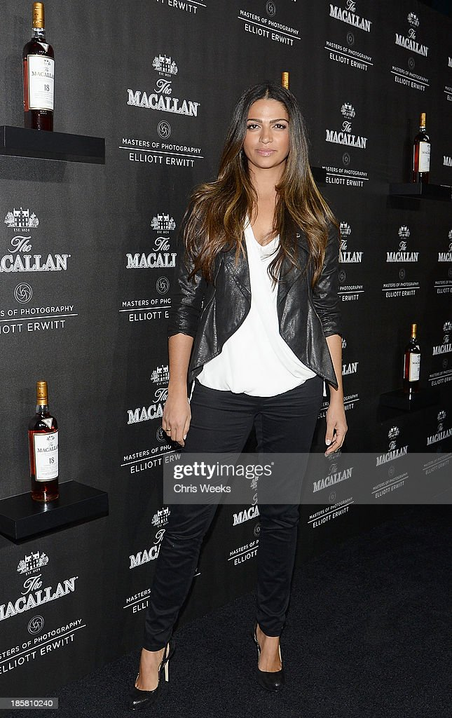 Model <a gi-track='captionPersonalityLinkClicked' href=/galleries/search?phrase=Camila+Alves&family=editorial&specificpeople=4501431 ng-click='$event.stopPropagation()'>Camila Alves</a> arrives at The Macallan Masters of Photography: Elliott Erwitt at Leica Gallery Los Angeles on October 24, 2013 in Los Angeles, California.