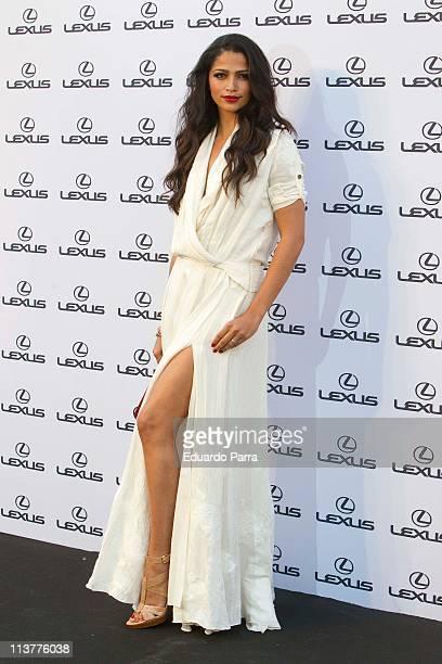 Model Camila Alves attends Lexus party at 'Casino de Madrid' on May 5 2011 in Madrid Spain