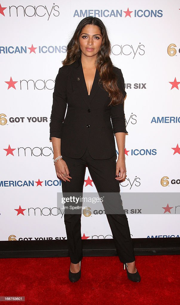 Model <a gi-track='captionPersonalityLinkClicked' href=/galleries/search?phrase=Camila+Alves&family=editorial&specificpeople=4501431 ng-click='$event.stopPropagation()'>Camila Alves</a> attends Macy's 'American Icons' Campaign Launch at Gotham Hall on May 14, 2013 in New York City.