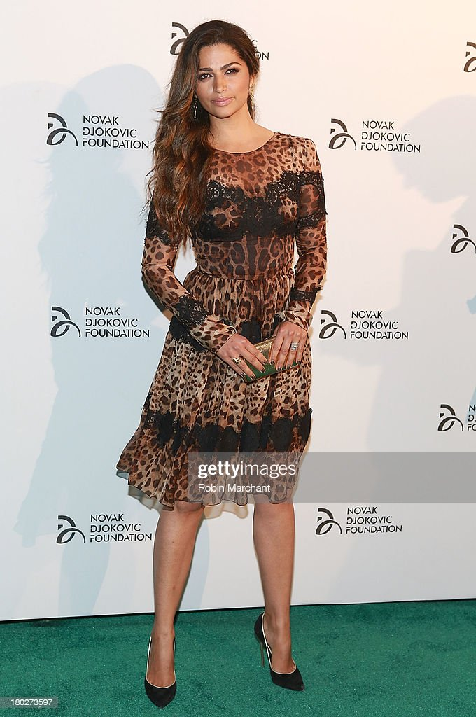 Model <a gi-track='captionPersonalityLinkClicked' href=/galleries/search?phrase=Camila+Alves&family=editorial&specificpeople=4501431 ng-click='$event.stopPropagation()'>Camila Alves</a> attends the 2013 Novak Djokovic Dinner at Capitale on September 10, 2013 in New York City.