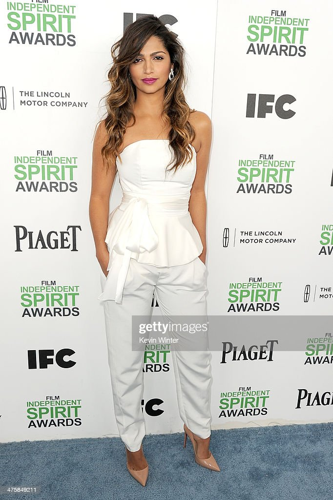 Model Camila Alves attends the 2014 Film Independent Spirit Awards at Santa Monica Beach on March 1, 2014 in Santa Monica, California.