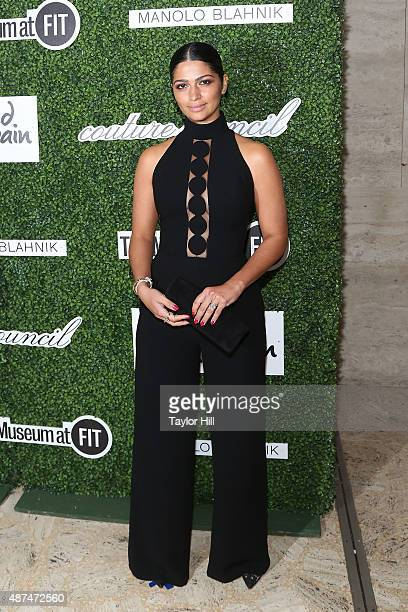 Model Camila Alves attends the 2015 Couture Council Awards Benefit Luncheon honoring Manolo Blahnik at David Koch Theatre at Lincoln Center on...