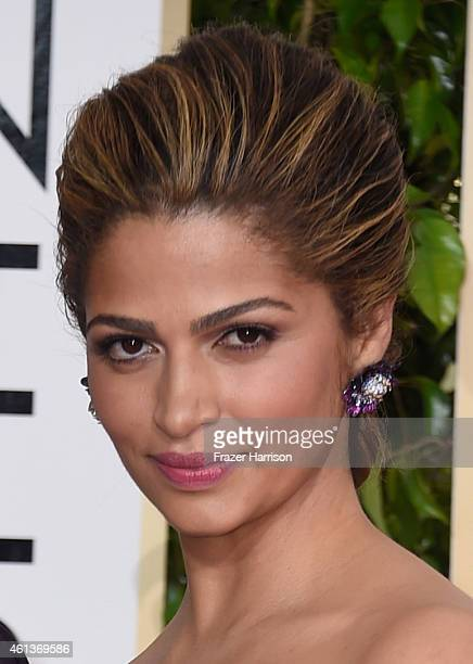 Model Camila Alves attends the 72nd Annual Golden Globe Awards at The Beverly Hilton Hotel on January 11 2015 in Beverly Hills California