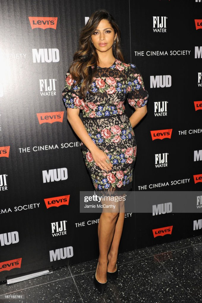 Model <a gi-track='captionPersonalityLinkClicked' href=/galleries/search?phrase=Camila+Alves&family=editorial&specificpeople=4501431 ng-click='$event.stopPropagation()'>Camila Alves</a> attends the Cinema Society with FIJI Water & Levi's screening of 'Mud' at The Museum of Modern Art on April 21, 2013 in New York City.