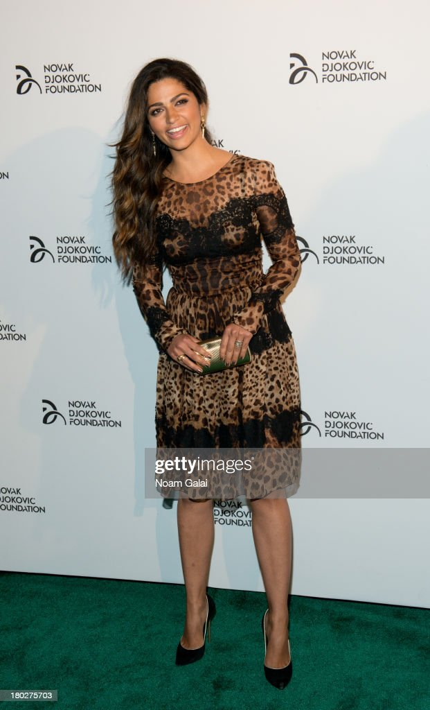 Model <a gi-track='captionPersonalityLinkClicked' href=/galleries/search?phrase=Camila+Alves&family=editorial&specificpeople=4501431 ng-click='$event.stopPropagation()'>Camila Alves</a> attends the The 2013 Novak Djokovic Foundation Dinner at Capitale on September 10, 2013 in New York City.