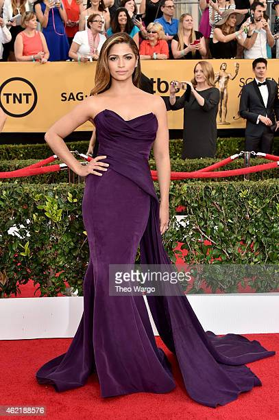 Model Camila Alves attends TNT's 21st Annual Screen Actors Guild Awards at The Shrine Auditorium on January 25 2015 in Los Angeles California...