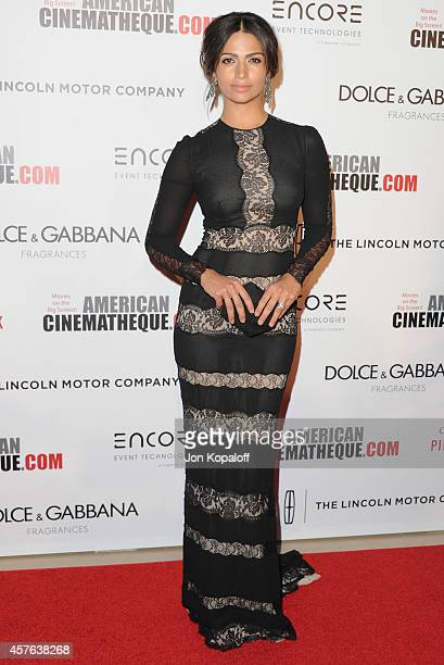Model Camila Alves McConaughey arrives at the 28th American Cinematheque Award Honoring Matthew McConaughey at The Beverly Hilton Hotel on October 21...