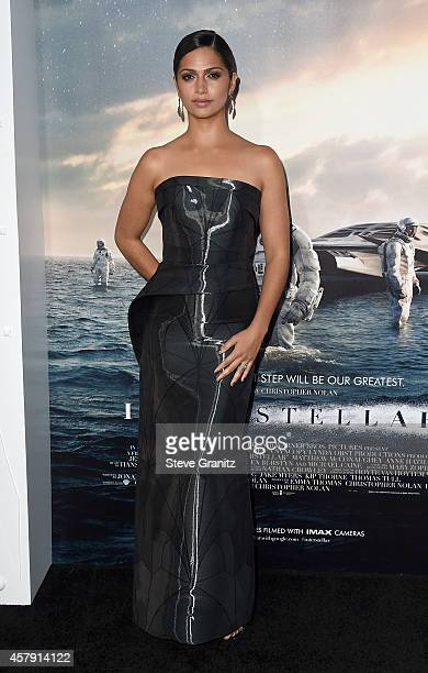 Model Camila Alves McConaughey attends the premiere of Paramount Pictures' 'Interstellar' at TCL Chinese Theatre IMAX on October 26 2014 in Hollywood...
