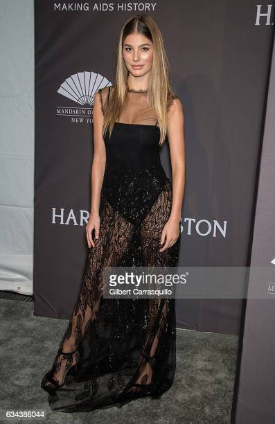 Model Camila Morrone attends 19th Annual amfAR New York Gala at Cipriani Wall Street on February 8 2017 in New York City