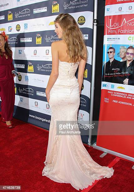 Model Camila Morrone attends the 9th annual Los Angeles Italia Film Fashion and Art Fest opening night gala at the TLC Chinese 6 Theatres on February...