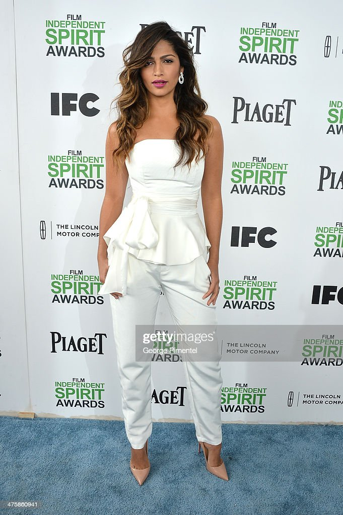 Model Camilla Alves attends the 2014 Film Independent Spirit Awards at Santa Monica Beach on March 1, 2014 in Santa Monica, California.