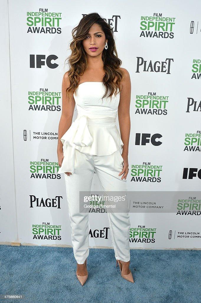 Model Camilla Alves attends the 2014 Film Independent Spirit Awards at Santa Monica Beach on March 1, 2014 in Santa Monica, California.