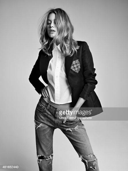 109164007 Model Camille Rowe poses for Madame Figaro on February 27 2014 in Paris France Blazer shirt jeans Makeup by Dior PUBLISHED IMAGE CREDIT...