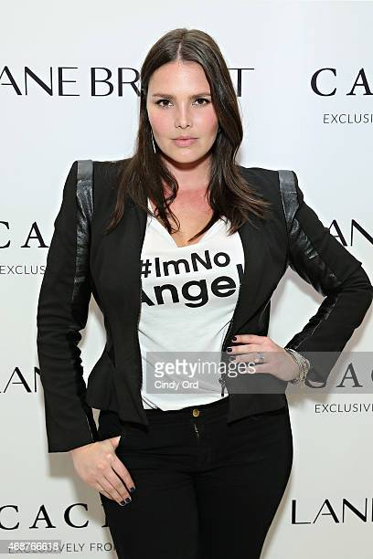 Model Candice Huffine attends as Lane Bryant celebrates the launch of their campaign #ImNoAngel on April 6 2015 in New York City