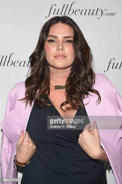 Model Candice Huffine attends FULLBEAUTY Brands' launch of fullbeautycom and Fullbeauty Magazine on April 2 2015 in New York City