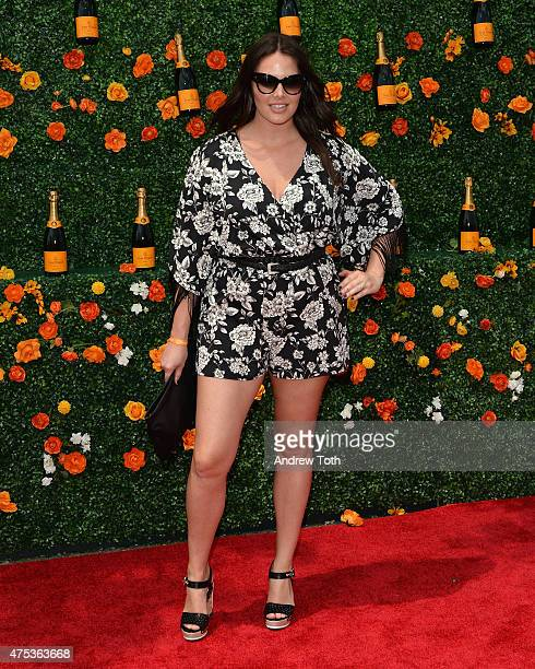 Model Candice Huffine attends the 8th Annual Veuve Clicquot Polo Classic at Liberty State Park on May 30 2015 in Jersey City New Jersey