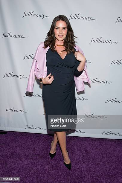Model Candice Huffine attends the FULLBEAUTY Brands Launch event at Gustavino's on April 2 2015 in New York City