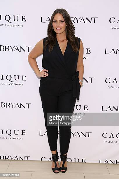 Model Candice Huffine attends the Lane Bryant launch of the #PlusIsEqual campaign at Times Square on September 14 2015 in New York City