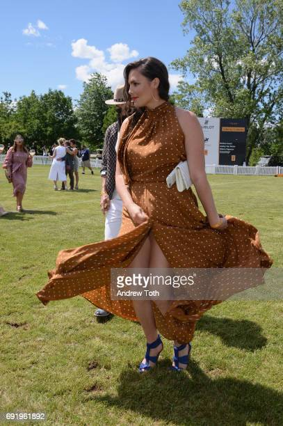 Model Candice Huffine attends The Tenth Annual Veuve Clicquot Polo Classic at Liberty State Park on June 3 2017 in Jersey City New Jersey