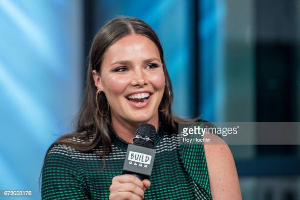 Model Candice Huffine discusses Her Recent Women's Empowerment Efforts with the Build Series at Build Studio on April 25 2017 in New York City