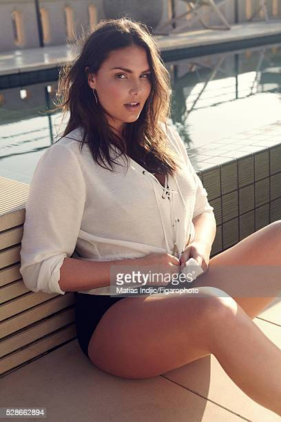 Model Candice Huffine is photographed for Madame Figaro on December 26 2015 in Paris France Top underwear earrings PUBLISHED IMAGE CREDIT MUST READ...