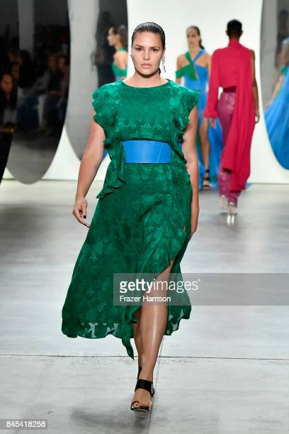 Model Candice Huffine walks the runway for Prabal Gurung fashion show during New York Fashion Week The Shows at Gallery 2 Skylight Clarkson Sq on...