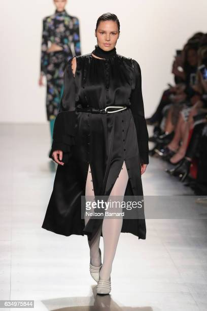 Model Candice Huffine walks the runway for the Prabal Gurung collection during New York Fashion Week The Shows at Gallery 1 Skylight Clarkson Sq on...
