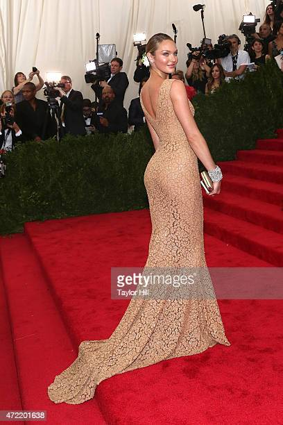 Model Candice Swanepoel attends 'China Through the Looking Glass' the 2015 Costume Institute Gala at Metropolitan Museum of Art on May 4 2015 in New...