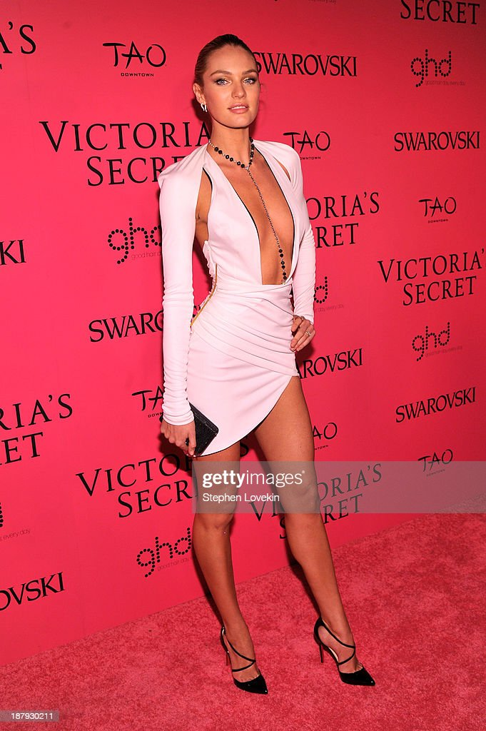 Model Candice Swanepoel attends the 2013 Victoria's Secret Fashion Show at TAO Downtown on November 13, 2013 in New York City.