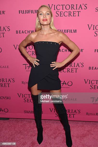 Model Candice Swanepoel attends the 2015 Victoria's Secret Fashion After Party at TAO Downtown on November 10 2015 in New York City