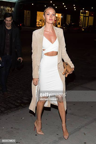 Model Candice Swanepoel attends the 2015 Victoria's Secret Fashion Show viewing party at Highline Stages on December 8 2015 in New York City