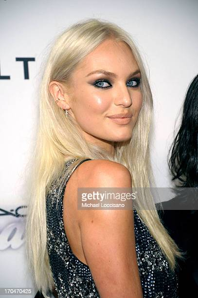 Model Candice Swanepoel attends the 4th Annual amfAR Inspiration Gala New York at The Plaza Hotel on June 13 2013 in New York City